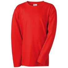 James & Nicholson Jungen Sport Pullover Langarmshirt Medium rot (red) X-Small