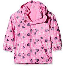 Sterntaler Kinder Mädchen gefütterte Regenjacke, 3in1 Multifunktionsjacke, Alter: 6-8 Jahre, Größe: 122, Pink