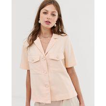 Mango - Hemd in Rosa mit Tasche - Orange