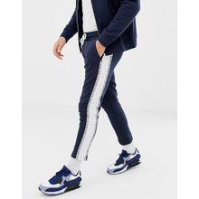 Jack & Jones - Core - Kurz geschnittene Jogginghose mit Seitenbändern - Navy