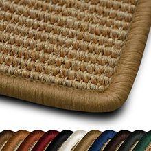 Sisal Teppich myStyle | viele Größen | mit Umkettelung in Wunschfarbe | für modernes und individuelles Wohnen (beige umkettelt, 66x130 cm)