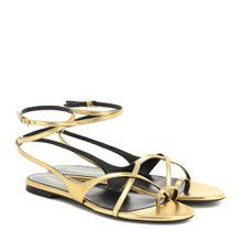 Sandalen Gia aus Metallic-Leder