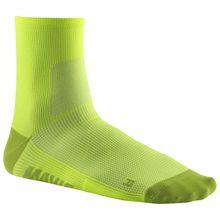 Mavic - Essential Mid Sock - Radsocken Gr 35-38 schwarz;gelb/orange/beige;grau