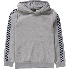 NAME IT Sweatshirt 'checked panel stripe' graumeliert / schwarz / weiß