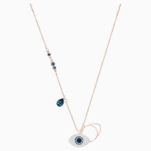 Swarovski Symbolic Evil Eye Anhänger, blau, Metallmix
