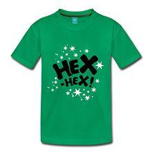 Spreadshirt Bibi Blocksberg Hexspruch Hex Hex Mit Sternen Kinder Premium T-Shirt, 134/140 (8 Jahre), Kelly Green
