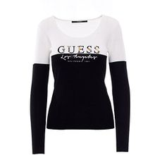 GUESS DAMEN ALYSSA SWEATER W81R34 Z1OI0 s schwarz