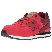 New Balance Unisex-Kinder Sneaker, Rot (Red/Black), 35.5 EU (3 UK)
