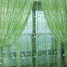 Brightup Colorful Print Sheer Vorhang Fenster Panel Balkon Tulle Zimmer Valances Divider