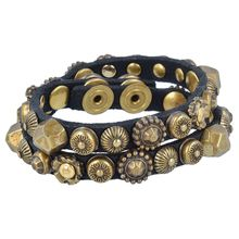 Campomaggi Armband Leder 41 cm schwarz Damen