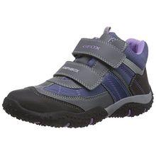 Geox J Baltic G. WP A, Mädchen Sneakers, Grau (C9275DK Grey/Lilac), 31 EU