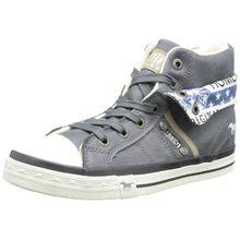 Mustang 5024-501-824, Unisex-Kinder Hohe Sneakers, Blau (824 arktik), 34 EU