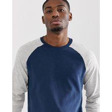 Only & Sons - Sweatshirt mit farblich abgesetzten Raglanärmeln - Navy