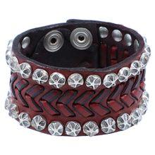 Campomaggi Armband Leder 20 cm rot Damen