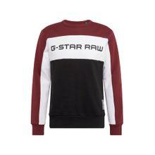 G-STAR RAW Sweatshirt 'Swando New Block' rot / schwarz / weiß