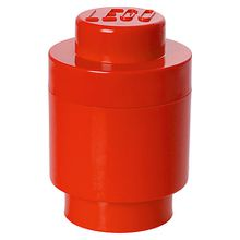 LEGO Aufbewahrungsdose Storage Brick rund, rot