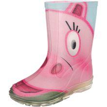 BECK Gummistiefel 'Hippo' hellblau / pink / rosa