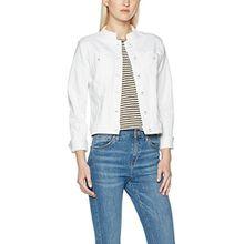 ICHI Damen Jacke Ivana Jeans JA White, Weiß (White 10100), 38