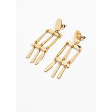 Abstract Hanging Earrings - Gold