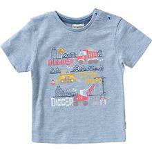 Baby T-Shirt , Baustelle blau Jungen Baby
