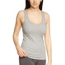 Marc O'Polo Body & Beach Damen Unterhemd TOP, Gr. 38 (Herstellergröße: M), Grau (grau-mel. 202)