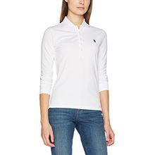 Polo Ralph Lauren Damen Bluse 3/4 Jul Polo-3/4 Sleeve-Knit, Weiß (White Xwadj), Small