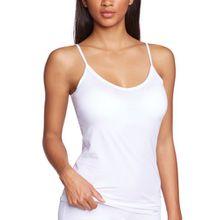 Skiny Damen Unterhemden Essentials Light Spaghettishirt, Gr. 42, Weiß (0500 WHITE)