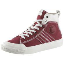 DIESEL Sneaker 'S-Astico' blutrot / weiß