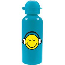 ZAK Alu-Trinkflasche Smiley, blau, 600 ml