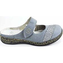 Rieker Damen Clogs Blau, Schuhgröße:EUR 38