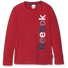 Reebok Kinder T-Shirt TEE Shirt Sweatshirt Longsleeve rot Gr. 140