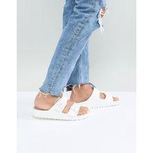 Birkenstock – Arizona Eva – Flache Sandalen in Weiß