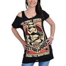 Star Wars 7 Girlie Shirt Damen Crush The Resistance schwarz - XL