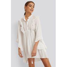 Trendyol Schwungrad Mini-Kleid - White