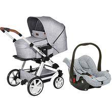 Kombi-Kinderwagen Turbo 4 + Babyschale Hazel, graphite grey