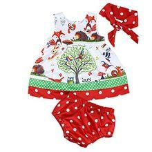 Prinzessin Kleid Baby Säugling Mädchen Wälder Punkt Kurze Hose Hose Stirnband Kleider Fröhliche Weihnachten