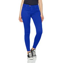 Replay Damen Skinny Jeans Touch High Waist, Blau (Elettric Blue 279), W24/L34 (Herstellergröße: 24)
