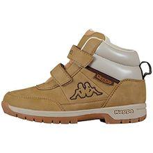Kappa BRIGHT MID KIDS, Unisex-Kinder Kurzschaft Stiefel, Beige (4141 beige), 35 EU (2.5 Kinder UK)