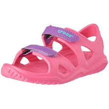crocs Unisex-Kinder Swiftwater River Sandal, Pink (Paradise Pink/Amethyst 60o), 23/24 EU
