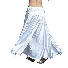 YouPue Damen Tanzkostüm Bauchtanz-Kostüm sexy High-End-Dual Rock Bauchtanz Leistungen große Rock Komfort (nicht enthalten Gürtel) Gürtel Kostüme Bauchtanz Taille Kette Weiß