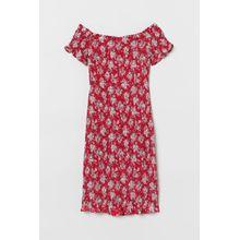 H & M - Off-Shoulder-Kleid - Red - Damen