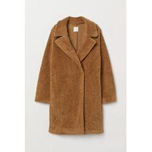 H & M - Mantel aus Teddyfleece - Beige - Damen