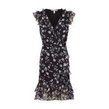 Heine Kleid mit Volants schwarz
