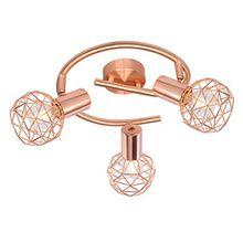 Großartige 3-flg Decken Leuchte Lampe Schlafzimmer Kupfer Globo XARA 54805-3