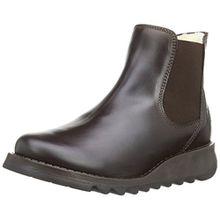 FLY London Salv Warm Rug Damen Chelsea Boots, Braun (Dark Brown), 5 UK, 38 EU