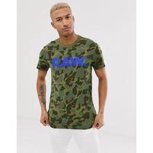 G-Star - Graphic RAW - T-Shirt mit grünem Military-Muster - Grün