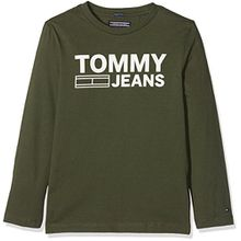 Tommy Hilfiger Jungen Langarmshirt Ame Logo CN Tee L/S, Grün (Thyme 381), 128