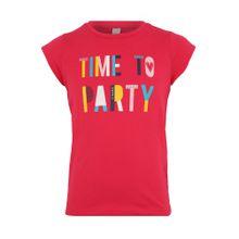 ESPRIT T-Shirt mit Message-Print mischfarben / rubinrot