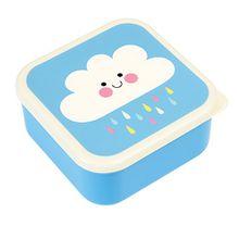 Lunch Box Vesperbox Frühstücksbox Essensbox Aufbewahrungsbox 3 er Set mit Deckel für das Pausenbrot und Snacks Motiv (Wolke)