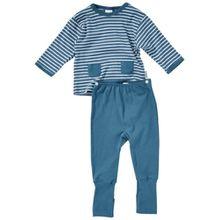Schiesser Baby - Jungen Schlafanzug (Zweiteiler) 138202-811, Gr. 62 (3M), Blau (811-petrol)